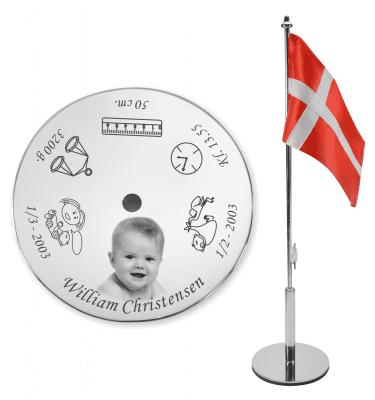 Navngivningsflag med fotogravering fra Memozz