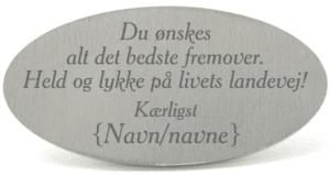 Livets Landevej Digt - Tekstplade til Memozz Bordflag