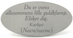 Guldklump - Tekstplade til Memozz Bordflag