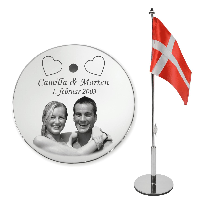 Bordflag med foto til par fra Memozz.dk