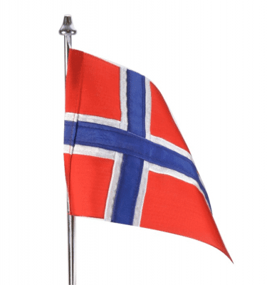 Norsk flag i stof til Memozz Bordflag