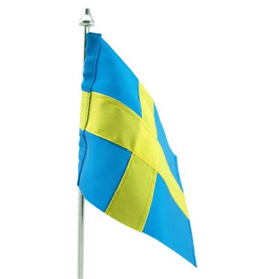 Svensk flag i stof - Passer til de graverede bordflag fra Memozz