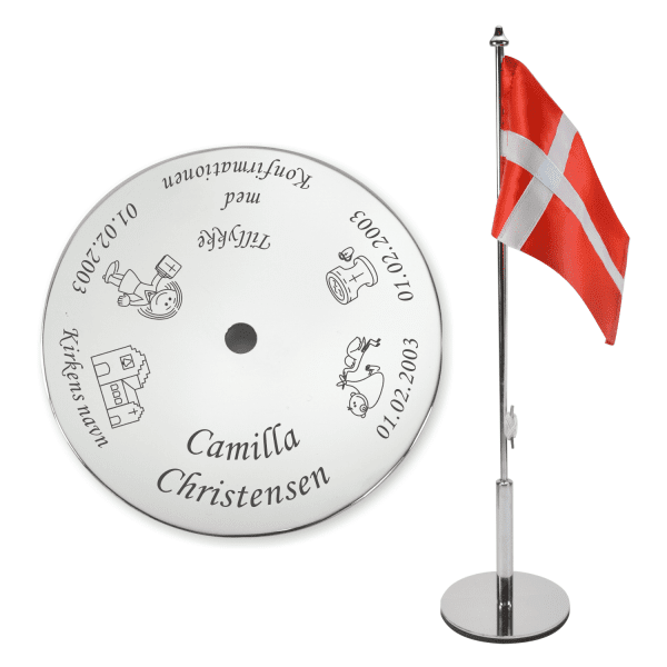 Konfirmationsflag med navn • Memozz.dk