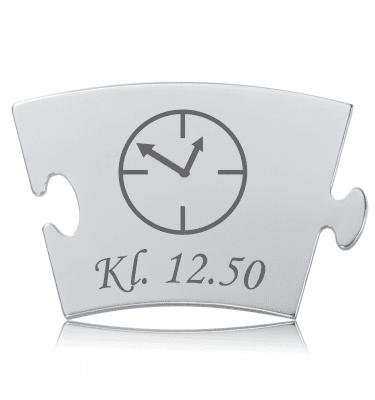 Fødselstidspunkt - Memozz Classic Mindebrik graveret med ur og tidspunkt