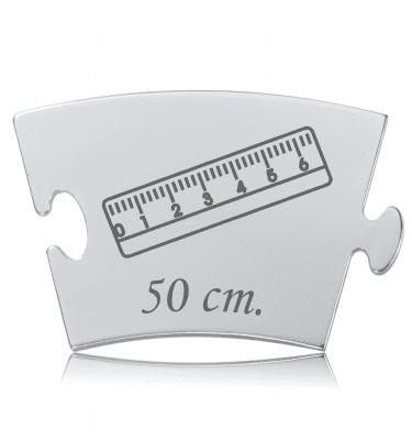 Fødselslængde - Memozz Classic Mindebrik med lineal og babys længde