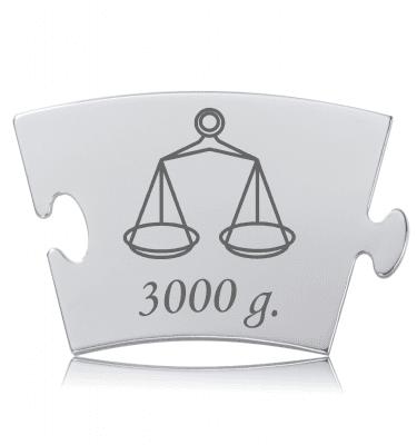 Vægt - Memozz Classic Mindebrik der symboliserer barnets fødselsvægt