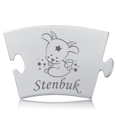 Stjernetegn - Stenbuk - Memozz Classic Mindebrik
