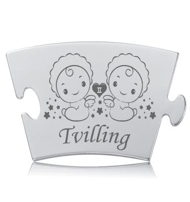 Stjernetegn - Tvilling - Memozz Classic Mindebrik
