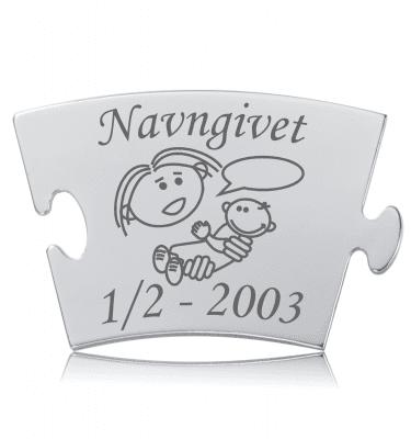 Navngivet - Memozz Classic Mindebrik graveret med symbol af navngivningen