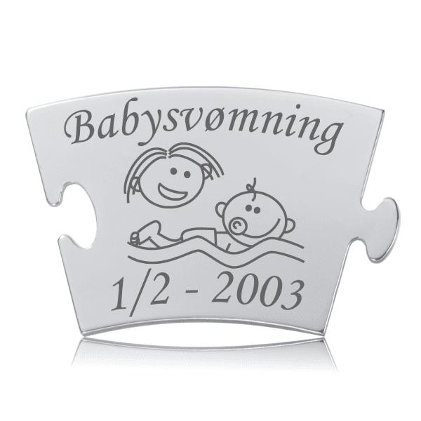 Babysvømning - Memozz Classic Mindebrik