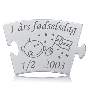 Fødselsdag - Model Konfetti - Memozz Classic Mindebrik