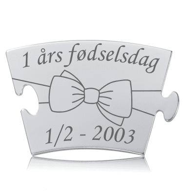 Fødselsdag - Model Sløjfe - Memozz Classic Mindebrik