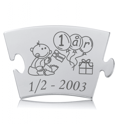 Fødselsdag - Model Puzle - Memozz Classic Mindebrik