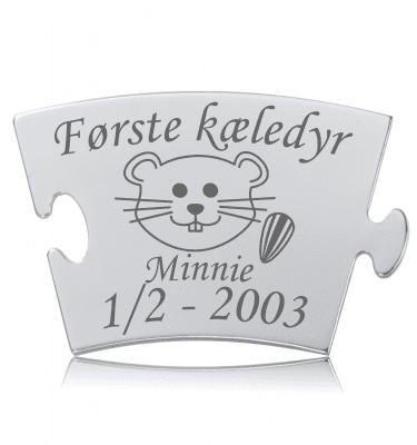 Første kæledyr - Hamster - Memozz Classic Mindebrik