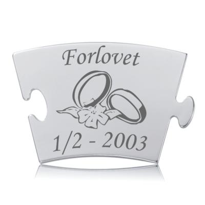 Forlovet - Model Blomst - Memozz Classic Mindebrik