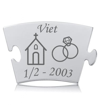 Viet - Model Kirke Med Ringe - Memozz Classic Mindebrik