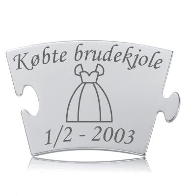Købte brudekjole - Memozz Classic Mindebrik