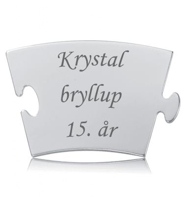 Krystalbryllup - Memozz Classic Mindebrik