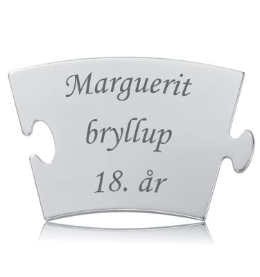 Margueritbryllup - Memozz Classic Mindebrik