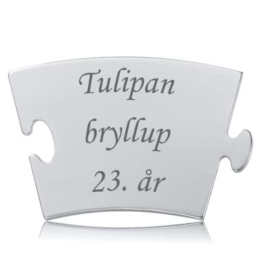 Tulipanbryllup - Memozz Classic Mindebrik