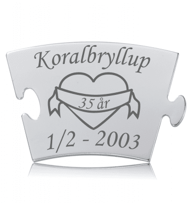 Koralbryllup - Memozz Classic Mindebrik