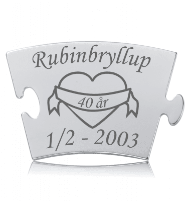 Rubinbryllup - Memozz Classic Mindebrik