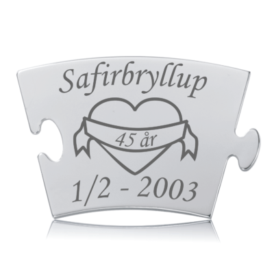 Safirbryllup - Memozz Classic Mindebrik