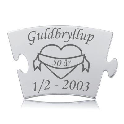 Guldbryllup - Memozz Classic Mindebrik