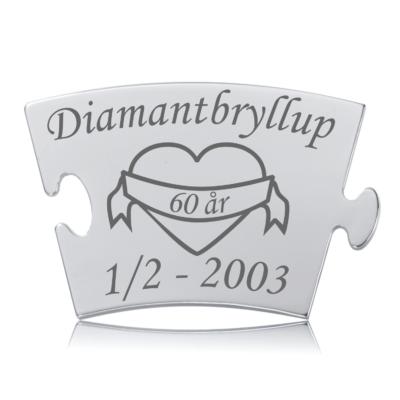 Diamantbryllup - Memozz Classic Mindebrik