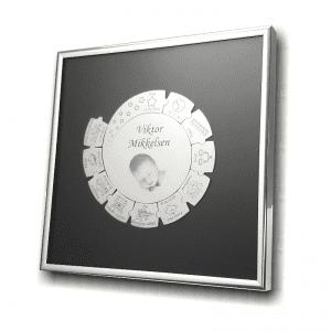 Sølvramme med Memozz konceptet SPIN