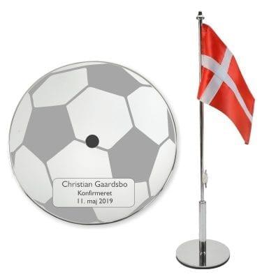 Konfirmationsflag med boldmotiv
